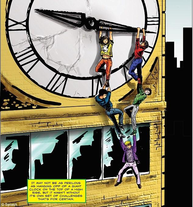 One direction versione cartone animato in un nuovo fumetto