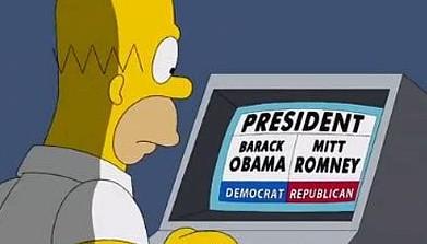 Simpson, elezioni, america, Mitt Romney, obama, video, USA