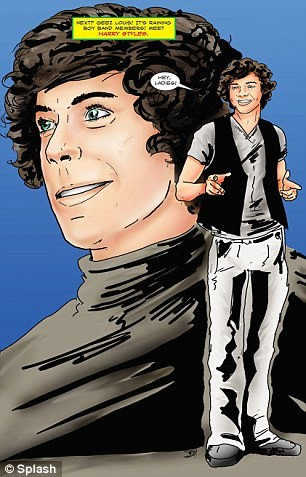 One direction cartoni animati fumetto fame one direction